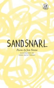 Sandsnarl cover - yellow swirls on a white background